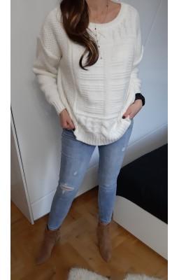 SWETER MARINA WHITE